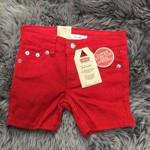 Levis Girls Midi Short: Various Sizes / Red